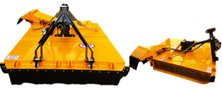Side delivery mulcher with 8 Blades